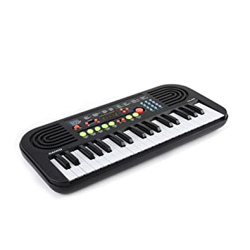 Lake.sea Niños Música Piano Teclado, Cobrable 37 Llaves Eléctrico Teclado LCD Monitor Educativo Musical Teclado Juguete Micrófono Mejor Regalo para Niña y ...