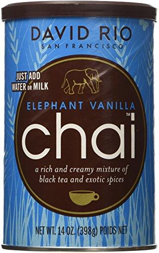 (David Rio Elephant Vanilla Chai, 14oz. - 2 canisters)