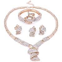 Jewelry Sets for Women- Wedding Jewelry Sets for Brides -18k Gold/Silver Plated- Prom Party Necklace Jewelry Set