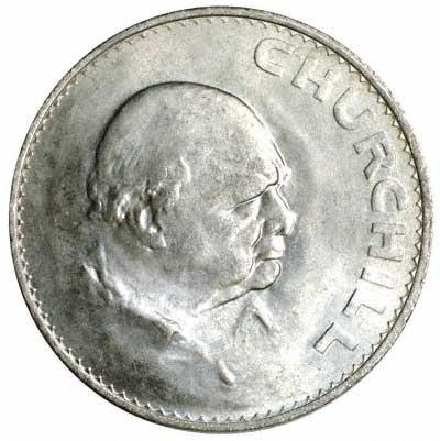 1965 Churchill Commemorative Crowns Sir Winston Churchill Five Shilling Piece - Churchill Crown