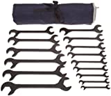 Martin BOB15K Hydraulic Wrench Set, 15 Pieces ranging from 3/8'' x 3/8'' to 1-1/4'' x 1-1/4'' in Roll Bag, Industrial Black Finish