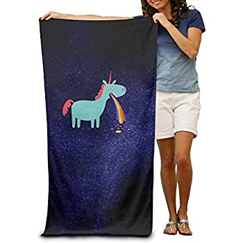 Puking Rainbow Unicorn Beach Towel