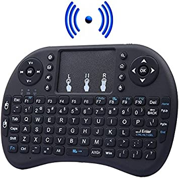 Mini Teclado Inalámbrico Touchpad 2.4g Ratón Inalámbrico para Smart Tv, Pc, Consola, Android Tv, Xbox, Ps3, Ps4, Raspberry Pi, Kodi, XBMC, IPTV (color negro): Amazon.es: Electrónica