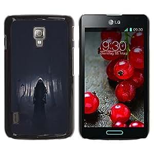 For LG Optimus L7 II P710 / L7X P714 Case , Death Forest Death Metal Dark - Diseño Patrón Teléfono Caso Cubierta Case Bumper Duro Protección Case Cover Funda