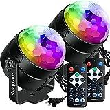 Nequare Party Lights Disco Ball Sound Activated Strobe Light 7 Lighting...
