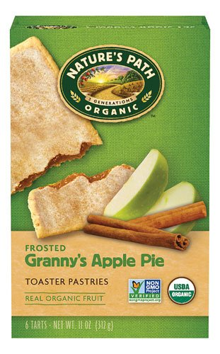 Nature's Path Organic Frosted Toaster Pastries Grannies Apple Pie -- 6 Pieces - 2 pc