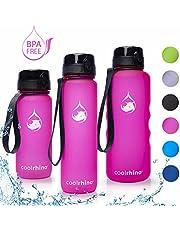 coolrhino Trinkflasche 650ml / 1l / 1,5L für Sport, Outdoor, Schule, Fitness & Kinder - Wasserflasche auslaufsicher und Bpa frei - Flasche für Fahrrad