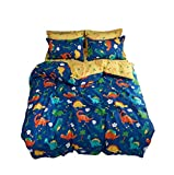 Kids Bed Dinosaur Bedding Set Bedclothes 4-Piece Set