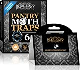 Dr. Killigan's Premium Pantry Moth Traps with Pheromone Attractant | Safe, Non-Toxic with No Insecticides | Sticky Glue Trap for Food and Cupboard Moths | Organic (6, Black)