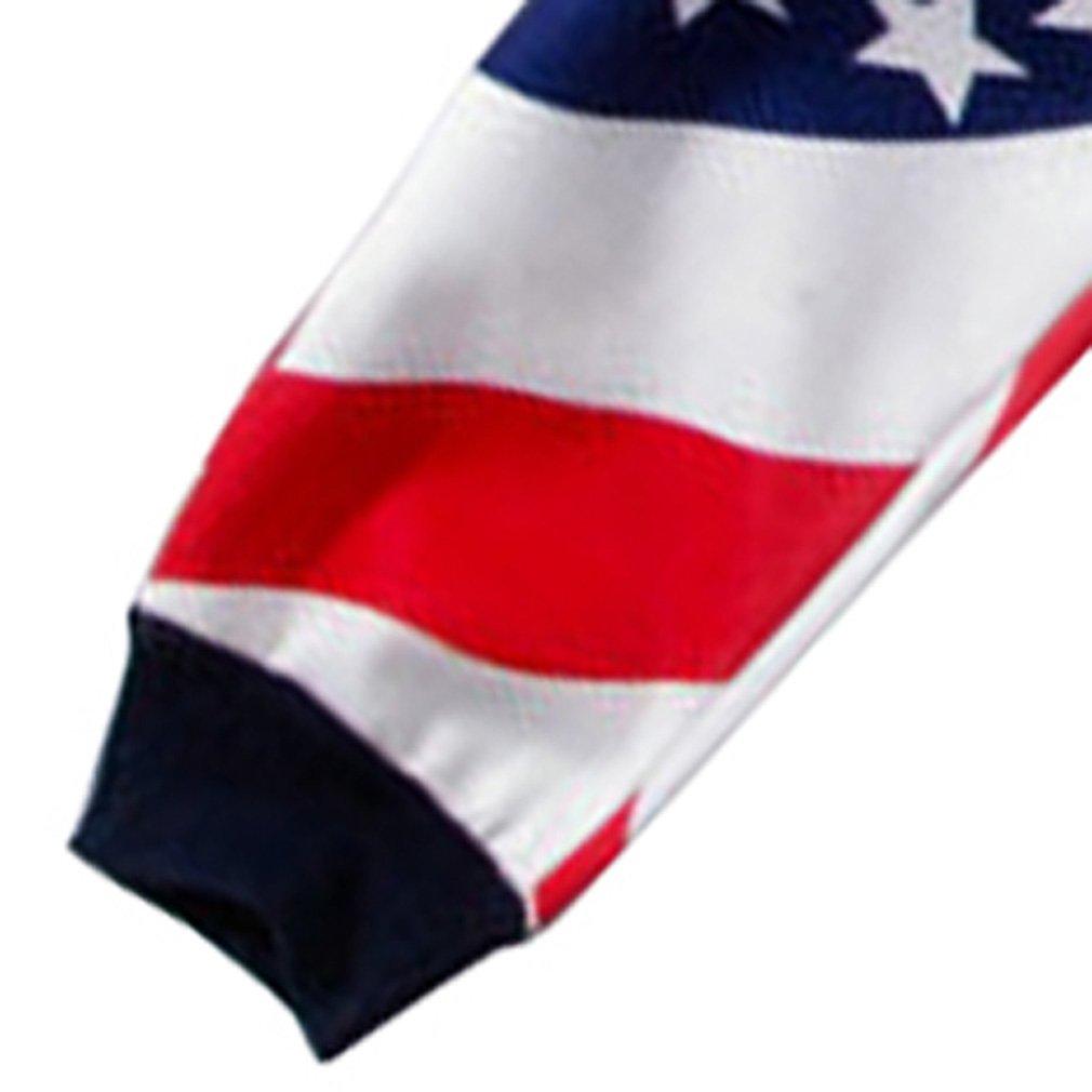 SAYM USA American Flag Emojies Galaxy 3D Sweatpants Joggers