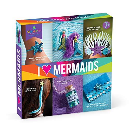 - Craft-tastic - I Love Mermaids Kit - Craft Kit Includes 6 Mermaid-Themed Projects