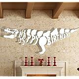 Front Birthday Banner Dinosaur Decoration Happy Birthday 1.3M Length Children's Dino Party Supplies (Dino)