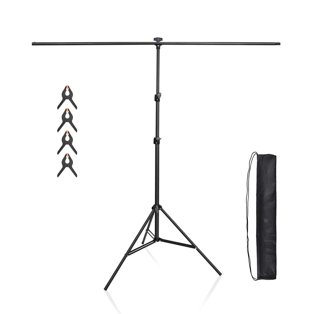Heavy Duty Backdrops Crossbar Support System Kit for Photo Video Studio shooting 10ft Backdrop Stand UTEBIT Photography Background Holder Collapsible Adjustable 2.8x3m H X W