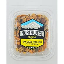San Juan Trail Mix 8oz Snack Pack Container: Peanuts, Pumpkin Seeds, Chili Crackers, Sesame Sticks, Almonds
