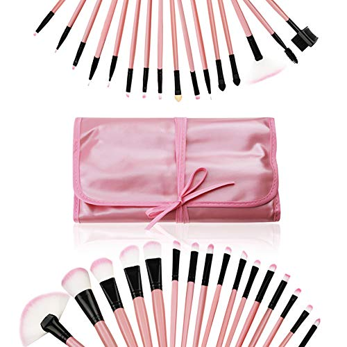 GenLed Makeup Brushes, Makeup Brush Set, Professional Premium Synthetic Foundation Brush Blending Cosmetics Eyeliner Eyeshadow Blush Eye Face Liquid Powder Cream Cosmetics Brushes Kit (Pink)