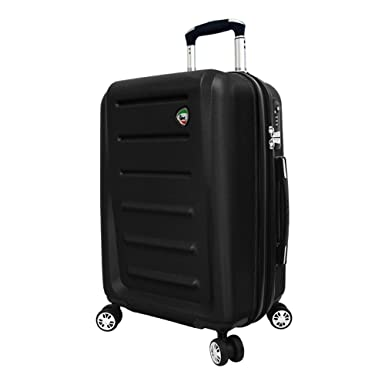 ca8bd3c04 Mia Toro Italy Moderno Hardside Spinner Luggage 2pc Set-Blue, Black