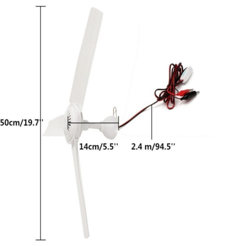Sunlar 12V DC 19.7'' inch Ceiling Fan With Switch Outdoor Camping Suit For 12V Battery Power by SUNLAR (Image #7)