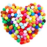 Caydo 250 Pieces 1 Inch Pom Poms for Hobby Supplies and DIY Creative Crafts