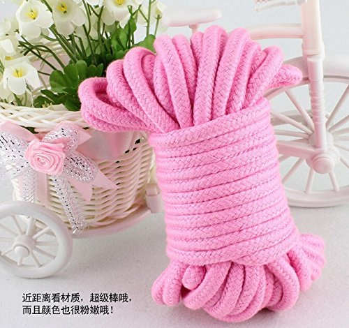 SWISH Soft Cotton Rope-32 Feet Length/10m,64-foot 20m Durable Utility Long Rope ()