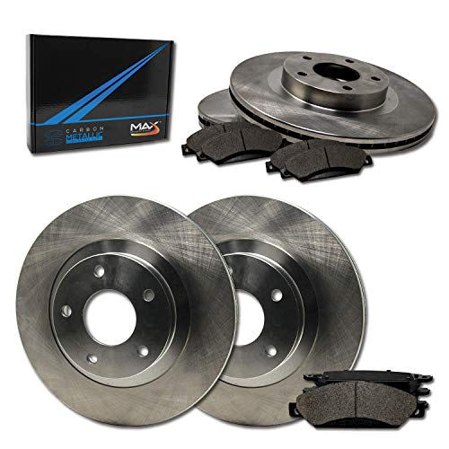 (Max Brakes Front & Rear Premium Brake Kit [ OE Series Rotors + Metallic Pads ] TA144343 | Fits: 1998 98 1999 99 2000 00 Isuzu Amigo)