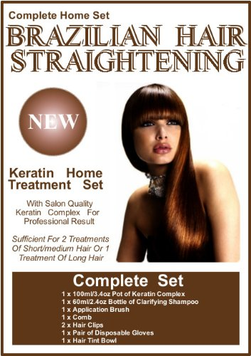 Brazilian Hair Straightening / Blow-Dry Home Keratin Treatment 100ml