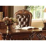 acme dresden office chair cherry oak finish