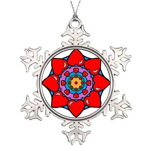 Venu67Hol Tree Decorating Ideas Mandala 36 Hearts Color Version Age Western Christmas Snowflake Ornaments Tree Decor
