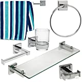 6 Piece Bathroom Accessories Set- One Great Price!! by Home Treats