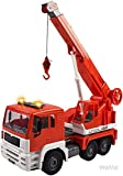 WolVol Friction Powered Construction Crane Truck Toy with Lights and Sounds for Kids, Crane arm can Expand to 18 inches