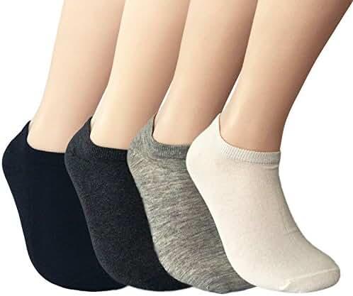 JOYCA & Co. Mens / Womens All Season Soft Cotton Low Cut No Show Ankle Socks