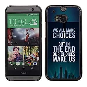 Cartel de motivación opciones Inspiring- Metal de aluminio y de plástico duro Caja del teléfono - Negro - HTC One M8