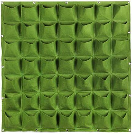 Macetas de tela – verde vertical bolsa de cultivo Jardín maceta creativa montado en la pared Plantación Flor Grow bolsa caliente verduras salón jardín suministros: Amazon.es: Jardín