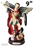 9 Inch Statue Of Saint Michael the Arcangel San Miguel Arcangel Angel Religious Figure