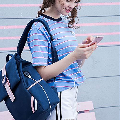 Estudiantes Coreana Ocio Femenina Campus Computadora Viento Bolsa Mochila Marea Versión Gran Secundaria De Azul Simple Bandolera Básica Colegio Capacidad wqt4n8X