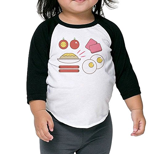 Susuha Around The World In Breakfast A Child's Sleeve Shoulder Shirt 4 Toddler (Around The World Outfit)