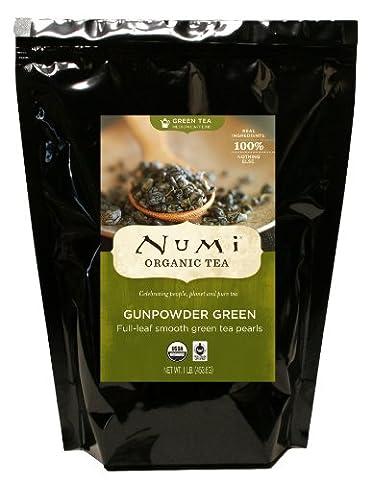 Numi Organic Tea Gunpowder Green, Loose Leaf Tea, 16 Ounce Bulk Pouch - Numi Black Organic Tea