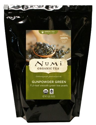 Numi Organic Tea Gunpowder Green, Full Leaf Tea, 16 Ounce Bulk Pouch
