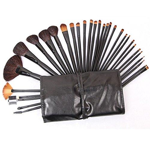 32pcs Eyebrow Brush Eyeshadow Makeup Cosmetic Natural Leather Brushes Set