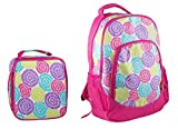 Reinforced Design Water Resistant Backpack and Lunch Bag Set - Bloom