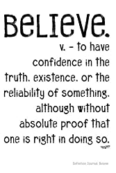 Definition Journal: Believe (Definition Journals) (Volume 2)