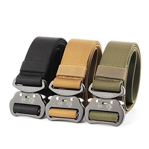 LinQuick Men's Heavy Duty Belt Men Military 1 5'' Webbing
