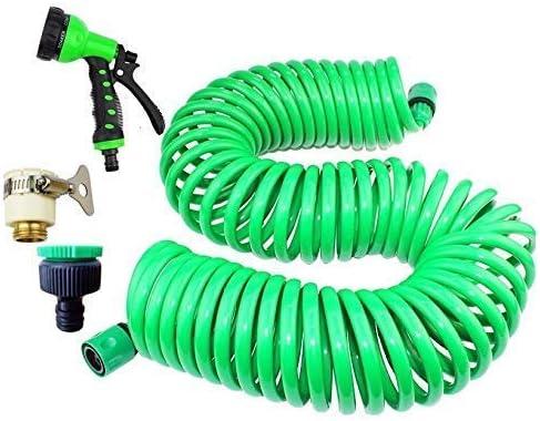 25M / 15M / 10M春チューブ灌漑キット植物庭散水システムガーデンホースキットコネクタ引き込み式結び目なし8機能ホームガーデン散水ツール