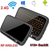 Yongf Wireless Keyboar and Mouse, H18+ Wireless Mouse 2.4G Wifi Mini Touchpad Backlight Wirele Mouse Touchpad and Combo for Android TV Box, Windows PC, HTPC, IPTV, Raspberry