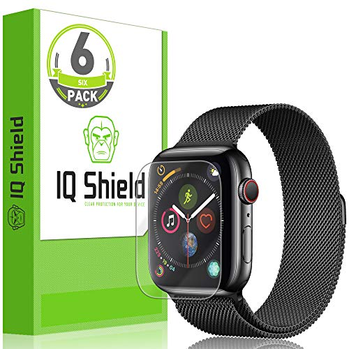 IQ Shield Screen Protector Compatible with Apple Watch Series 4 (44mm)(6-Pack)(Max Coverage) LiquidSkin Anti-Bubble Clear Film