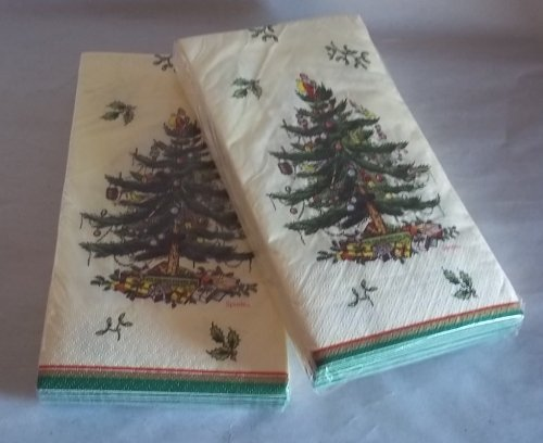 - Spode Christmas Tree Guest Napkins (2 Pack)