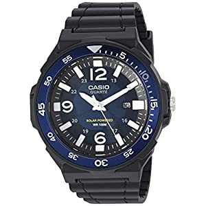 51t1I6qIxDL. SS300  - Casio Men's 'Solar Powered' Quartz Resin Watch, Color:Black (Model: MRWS310H-2BV)