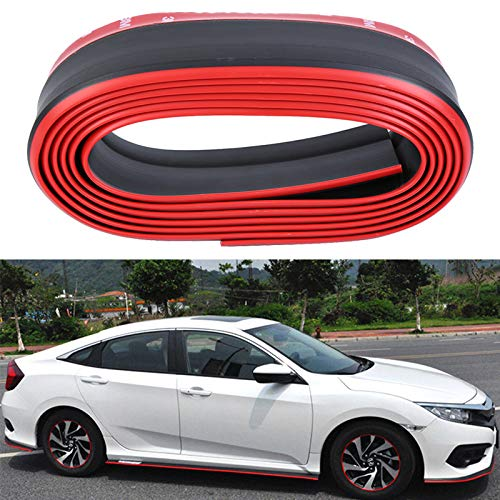 Honhill Front Bumper Protector Guard Universal Black PVC Rubber Scratch-Resistant Door Entry Guards for Cars
