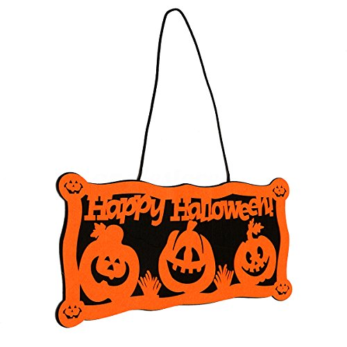 Pumpkin Wall Door Doorplate Plaque Hanging Sign Home Bar Haunted Decor (Front Door Halloween Decorations Pinterest)