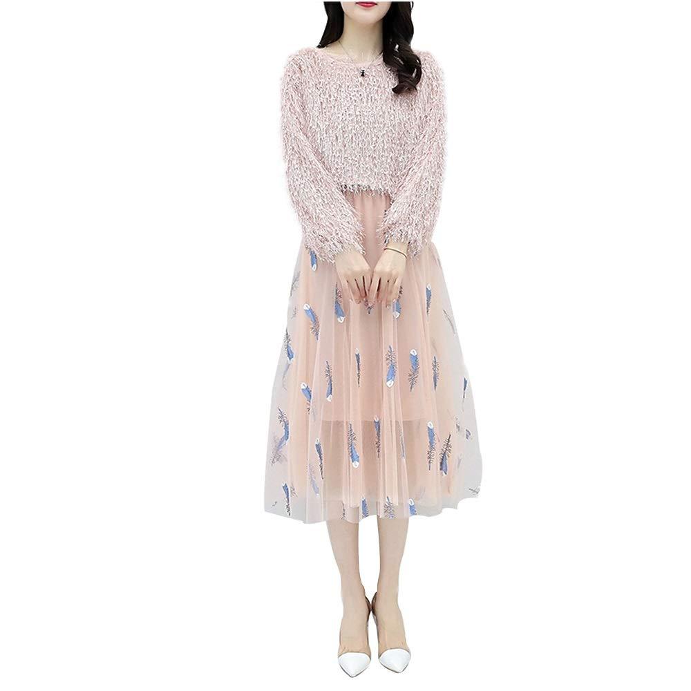 B Dress, Fashion Suit, Spring and Autumn Temperament Skirt, TwoPiece Women (color   A, Size   XXXL)