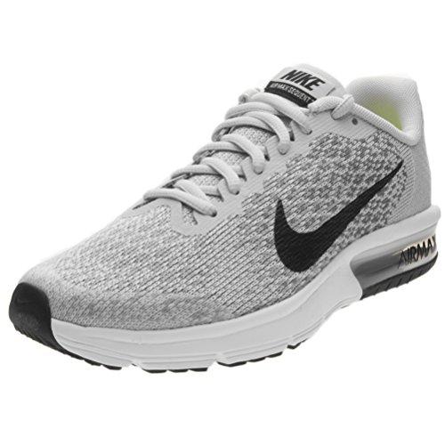 Nike Air Max Sequent 2 (GS), Zapatillas de Trail Running Para Niños Gris (Pure Platinum/Black/Cool Grey/Wolf Grey 006)